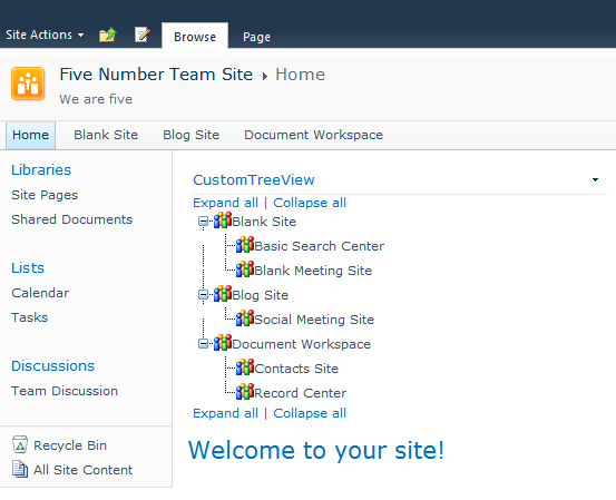 Most Common Custom WebParts Part 1 – Tree View WebPart Shows