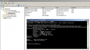 Figure 15 - Executing NSLOOKUP command to verify the IP address of the site