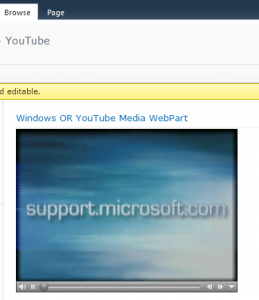 Windows Or YouTube Player WebPart (Playing Windows media Video)