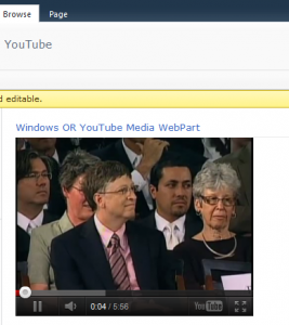Windows Or YouTube Player WebPart (Playing Youtube Video)